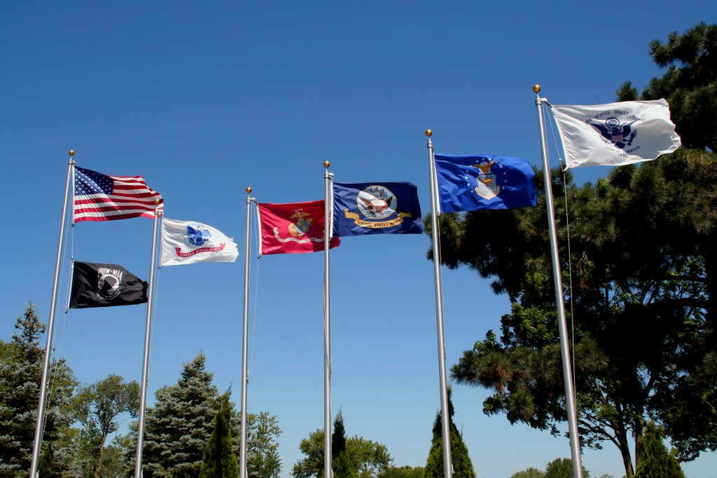 The Court of Honor Service Flags