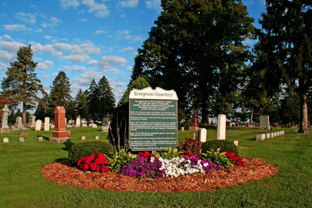 The Entrance Sign to the Cemetery