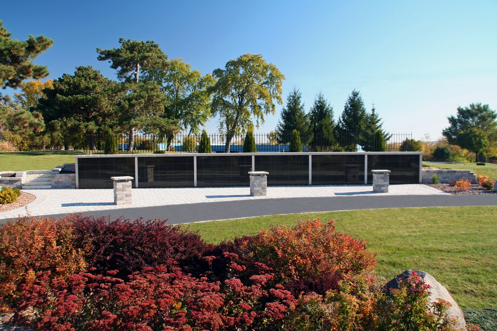 Front View of the Columbarium Niche Wall