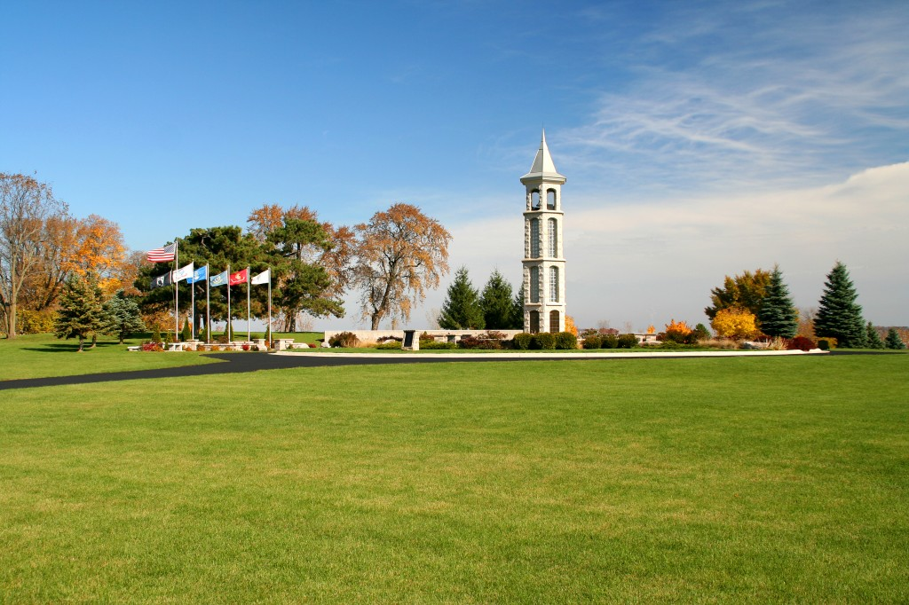 The Bellman Carillon Tower from a Distance