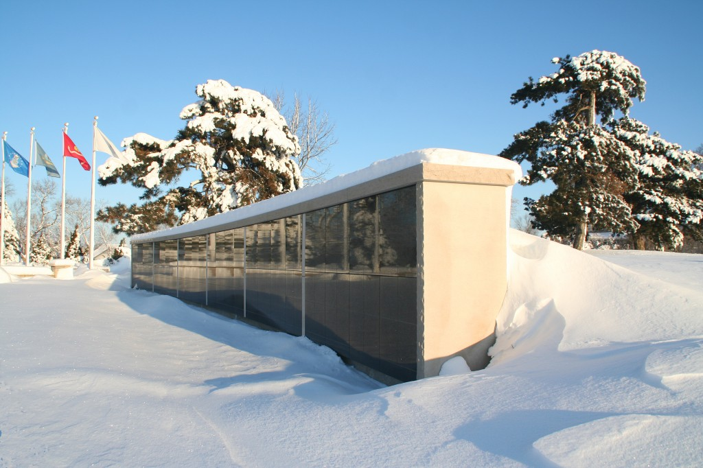 The Columbarium Niche Wall in Winter