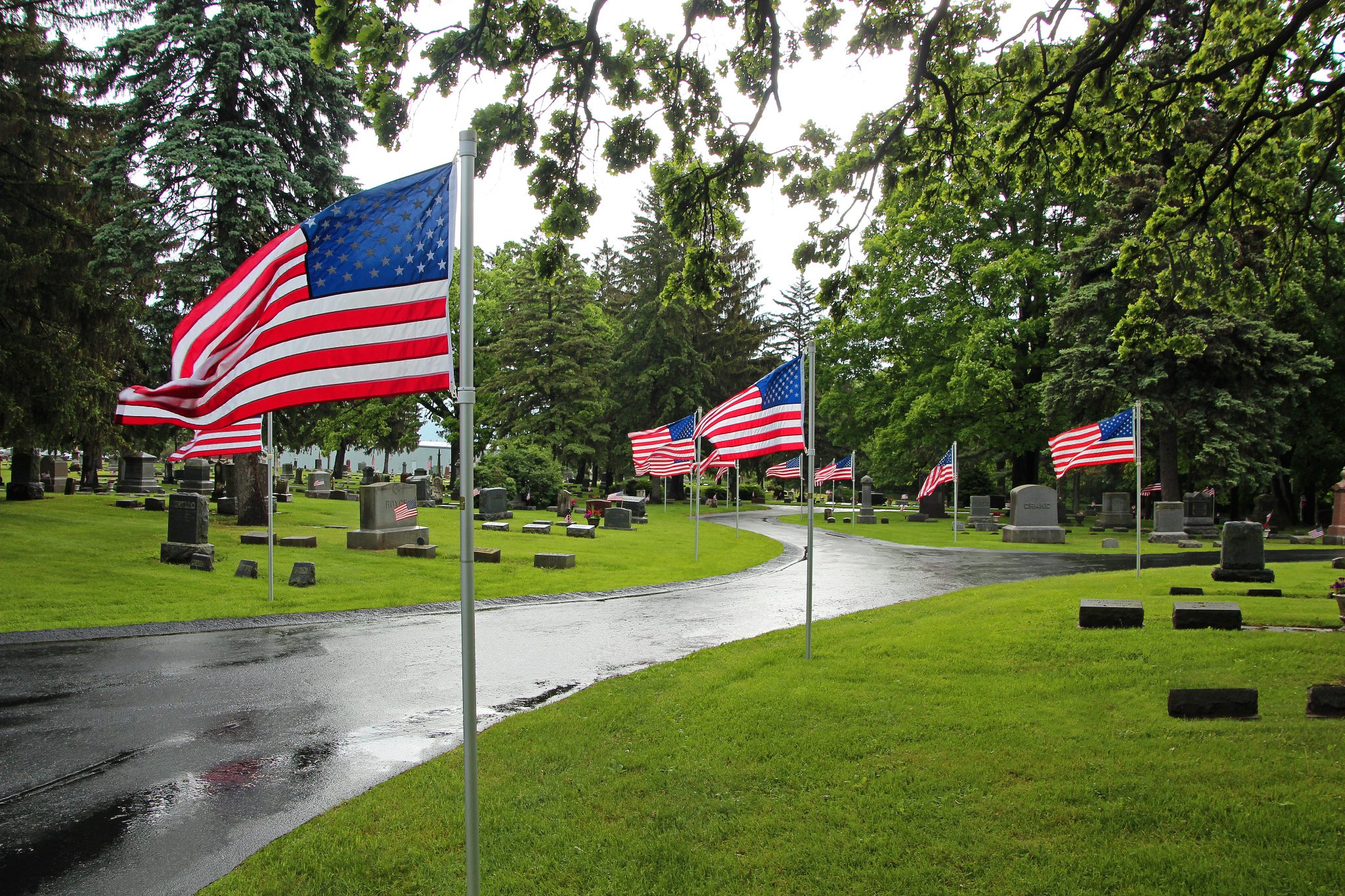 The Parade of Flags after rain
