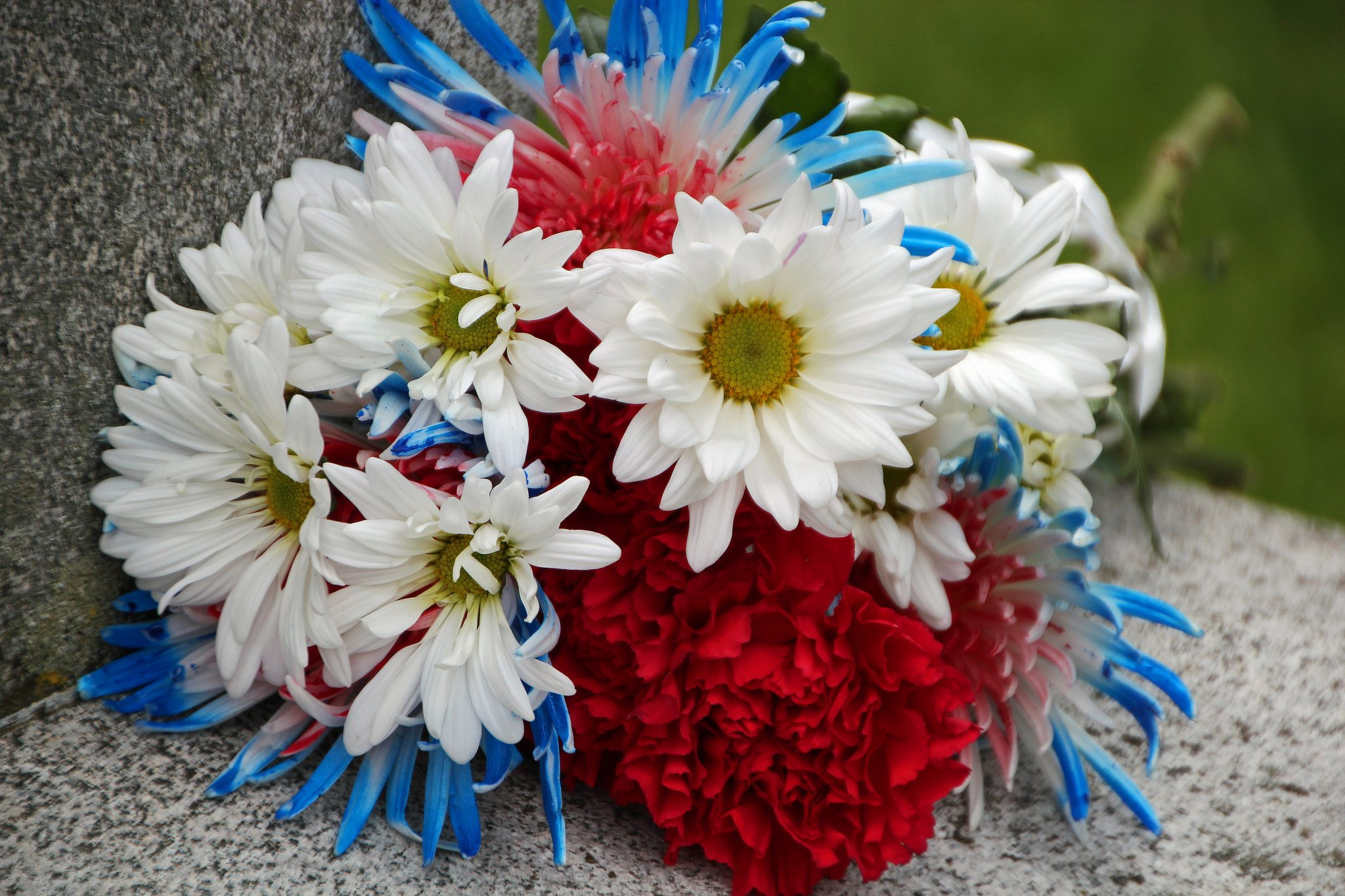 Memorial Day flowers at Civil War monument