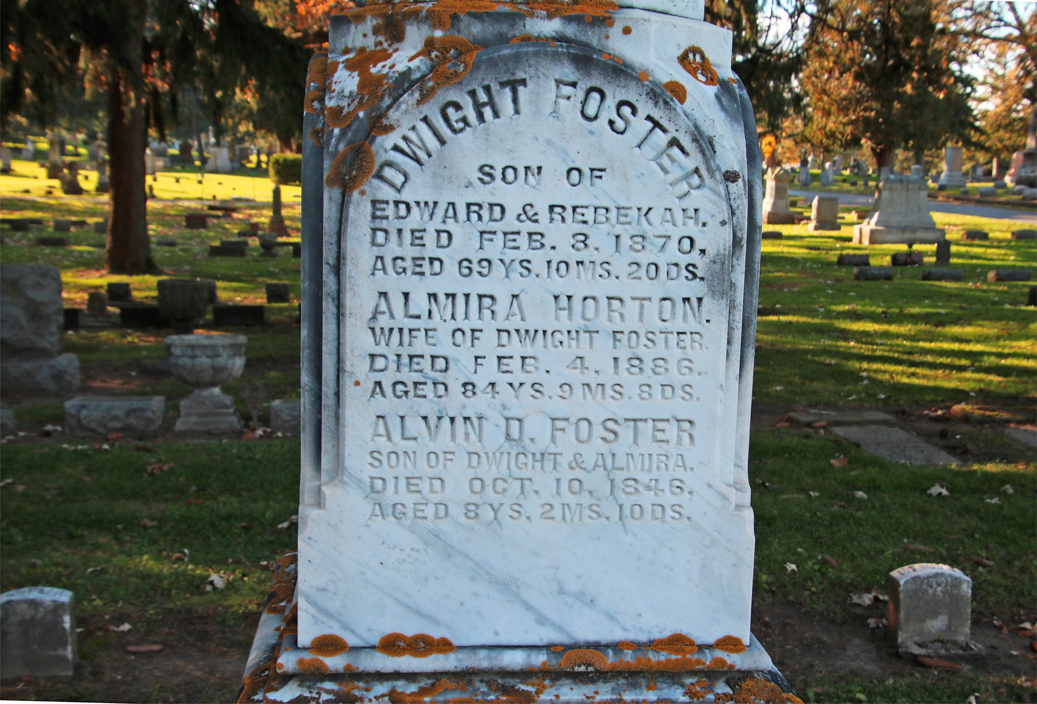 view of Dwight side of Foster Marker