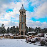 Bellman Carillon Tower in fall