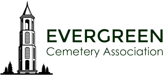 logo for the Evergreen Cemetery Association