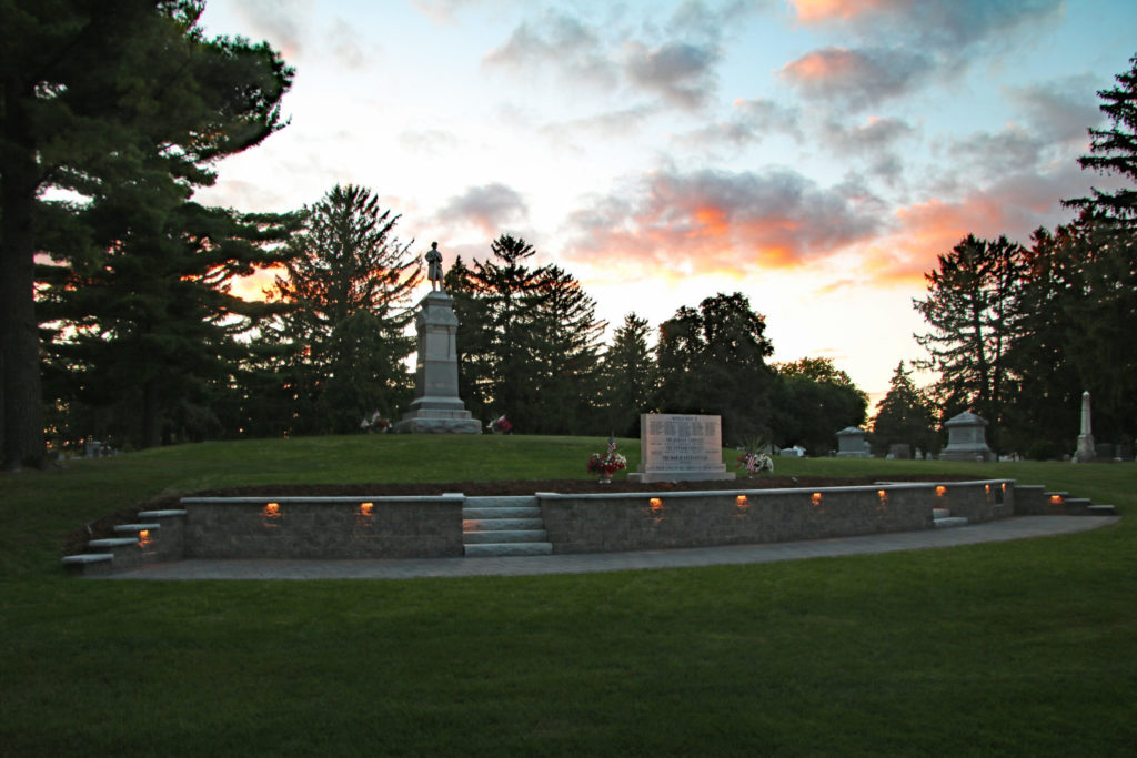 The Memorial Court at dusk