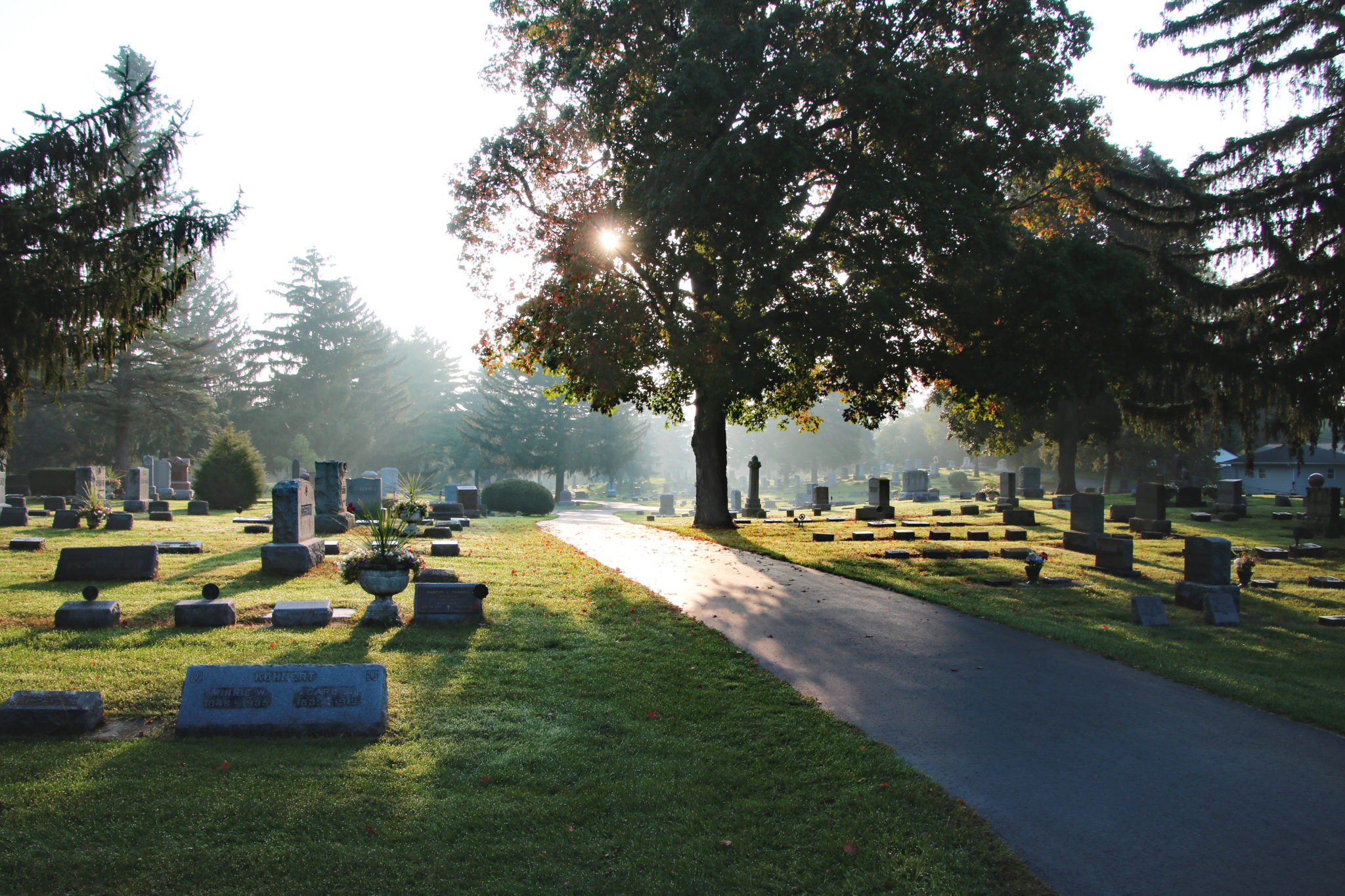 The Cemetery grounds in the morning
